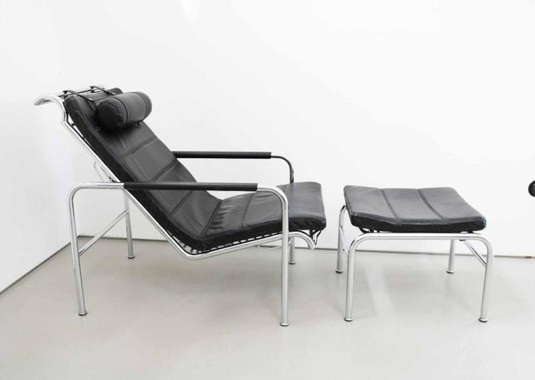 Italian Genni Chaise and Stool by Gabriele Mucchi for Zanotta For Sale