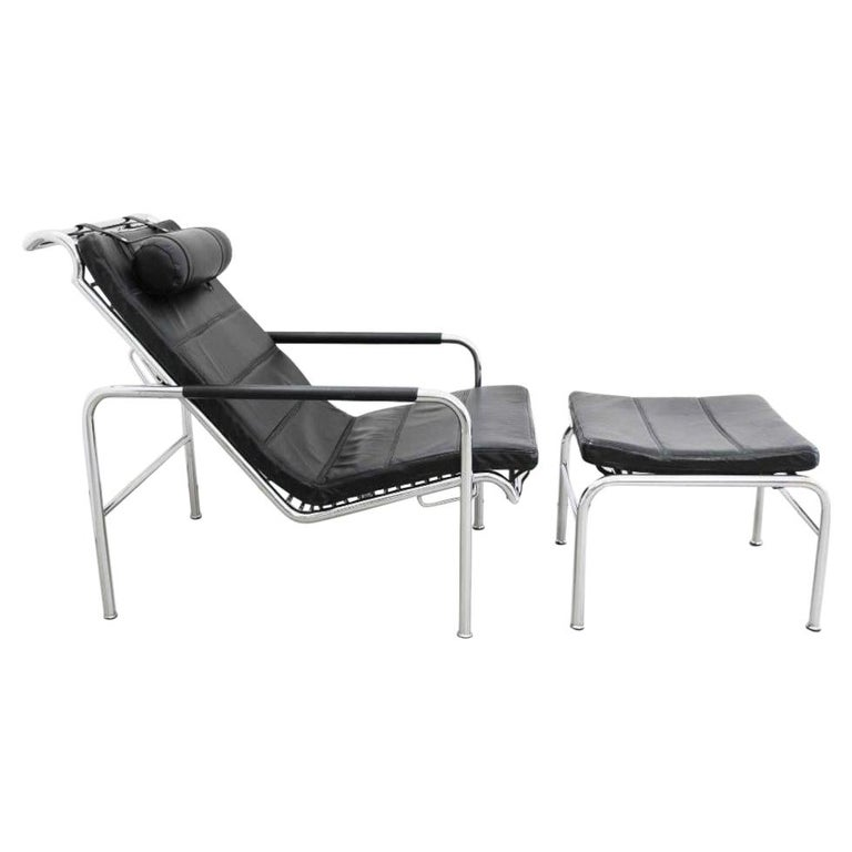 Genni Chaise and Stool by Gabriele Mucchi for Zanotta For Sale