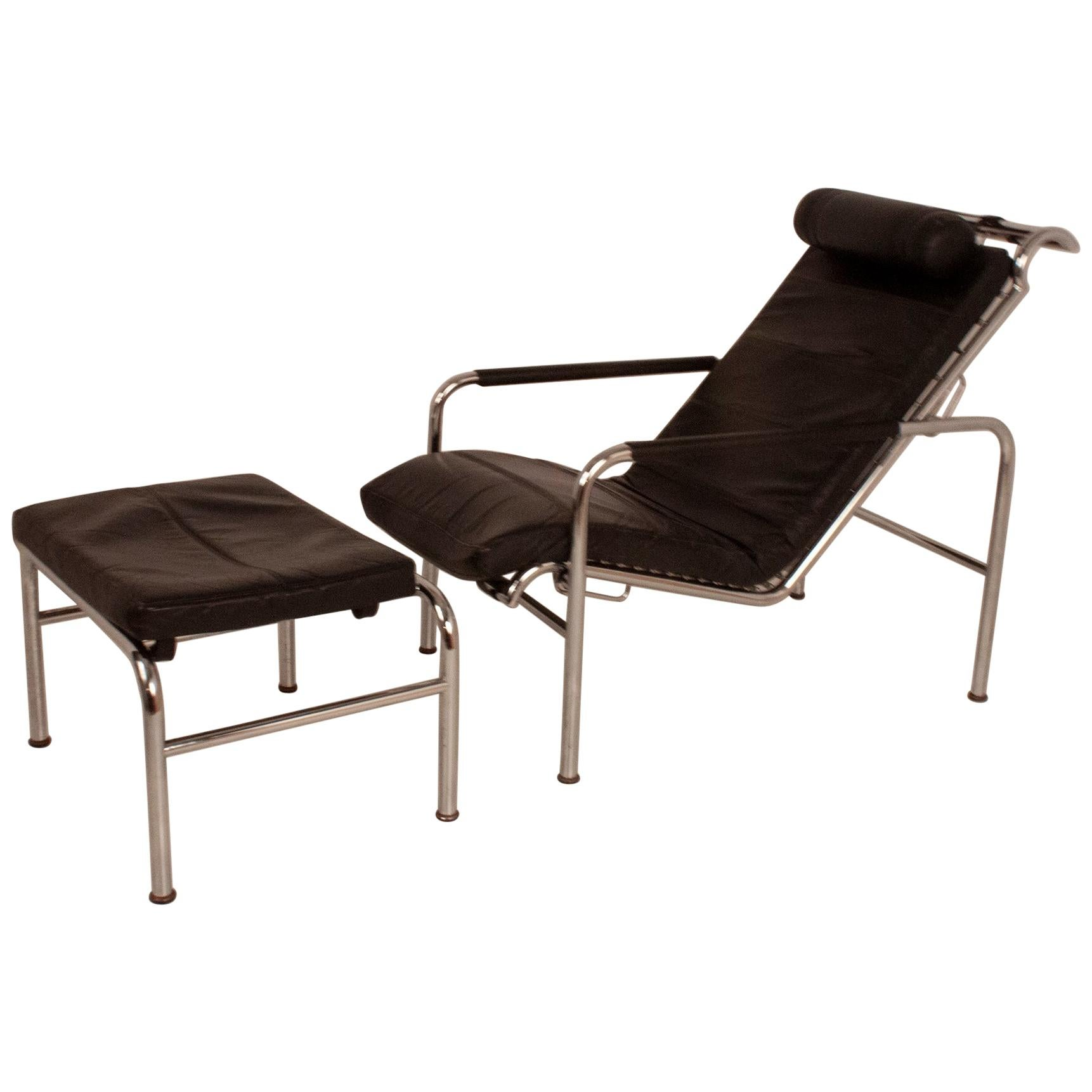 Genni Lounge Chair and Ottoman by Gabriele Mucchi, Italy, 1980s