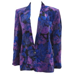 Genny blue purple velvet jacket