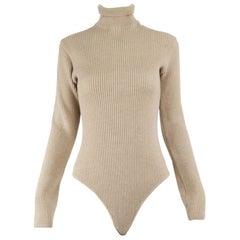 Genny Vintage Wool & Cashmere Knit Bodysuit Top
