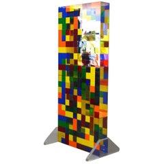 Genoma, Plexiglass Multi-Color Free Standing Sculpture
