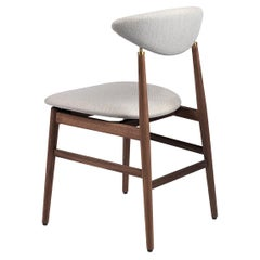 Gent Dining Chair, Fully Upholstered, Black Stained Oak Base