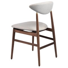 Gent Dining Chair, Fully Upholstered, Walnut Base