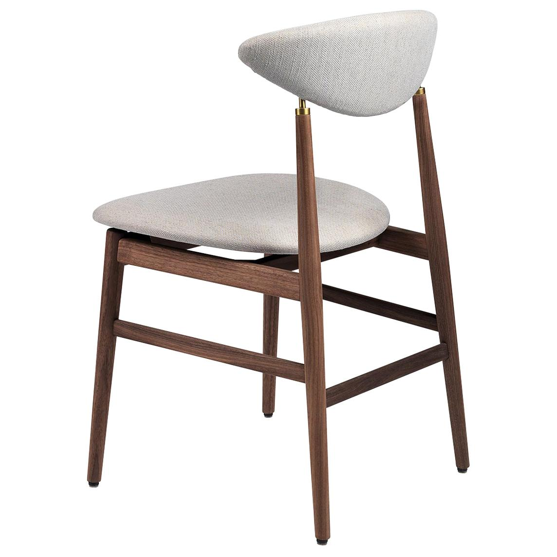 Gent Dining Chair, Fully Upholstered, Walnut Bass