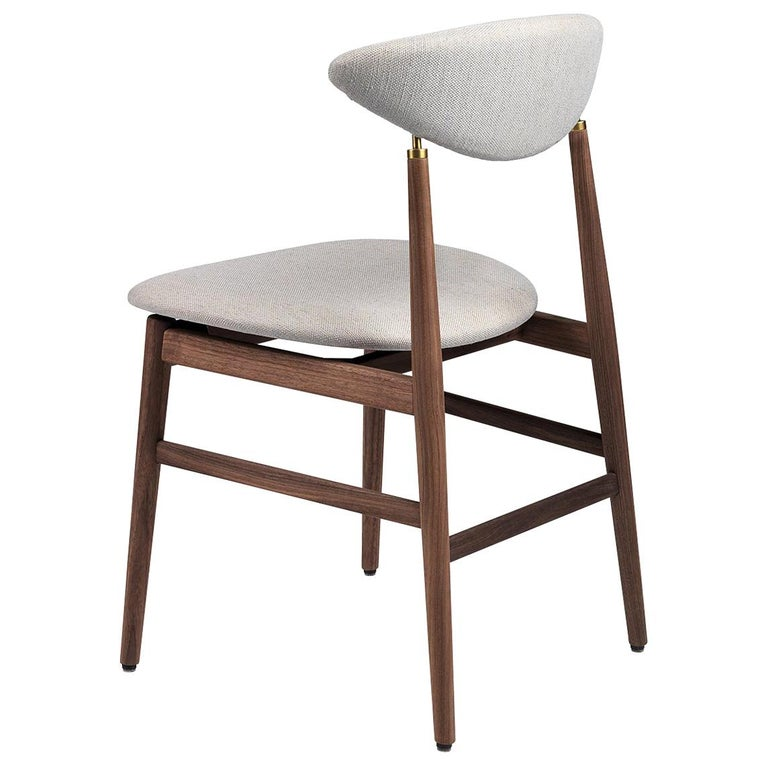 Gent Dining Chair, Fully Upholstered, Walnut Bass For Sale