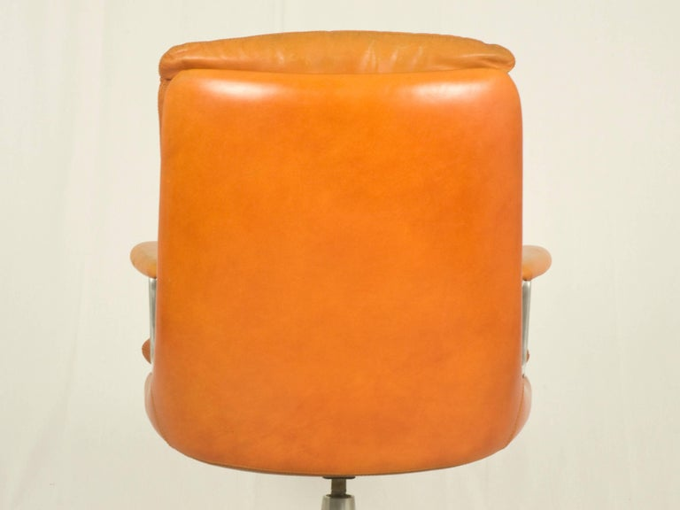 Mid-20th Century Gentilina Leather Armchairs by André Vandenbeuck for Strässle, 1960s, Set of Two For Sale