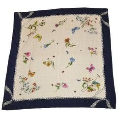 """Gentilucci wonderful """"Wild Florals and Butterflies"""" Silk Scarf"""