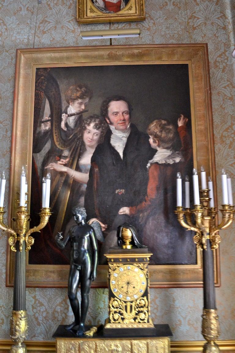 Gentleman with his Three Children by 18th Century English Artist John Opie For Sale 7