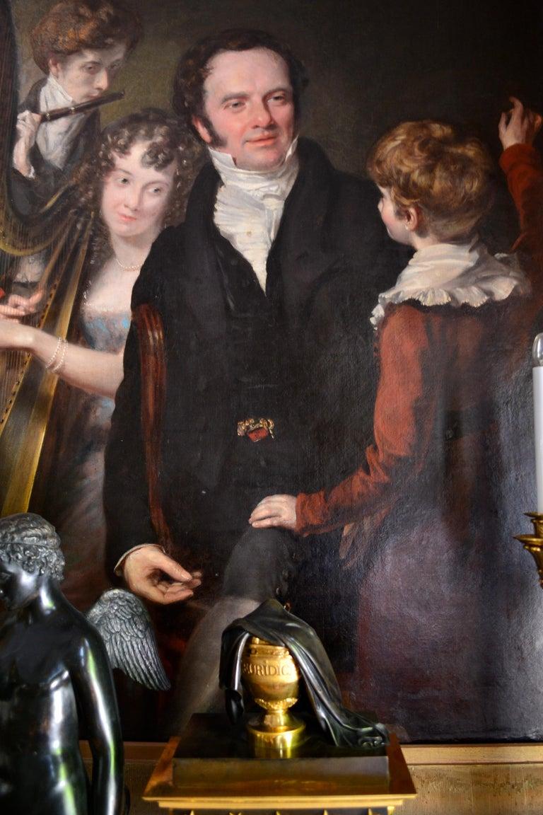 Gentleman with his Three Children by 18th Century English Artist John Opie For Sale 8