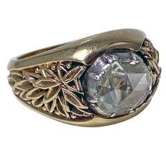 Gentleman's Antique Gold and Rose Cut Diamond Ring C.1930