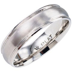 Gentleman's Estate Platinum Wedding Band