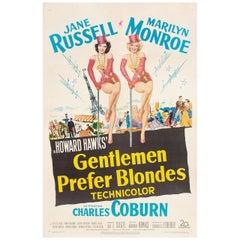 """Gentlemen Prefer Blondes"" 1953 U.S. One Sheet Film Poster"