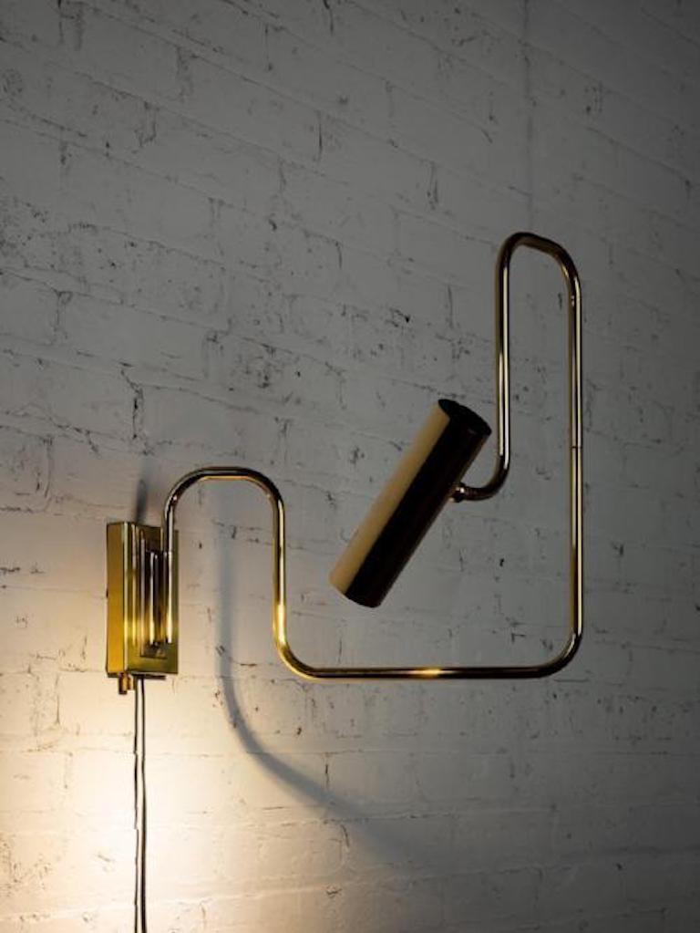 Gentner Design Brass Pivot Wall Sconce For Sale at 1stdibs