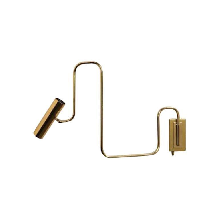 Gentner Design Brass Pivot Wall Sconce