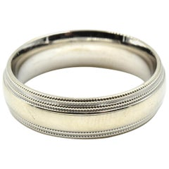 Gents 14 Karat White Gold Wedding Band