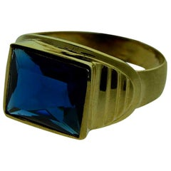 Gent's Art Deco Solid Gold Ring, circa 1940s