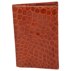 Gent's Mid Century Brown Crocodile Wallet Never Used