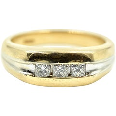 Gents Princess Cut Diamond Wedding Band