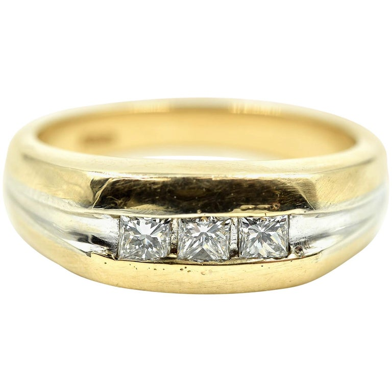 8ff0217347ea0 Gents Princess Cut Diamond Wedding Band