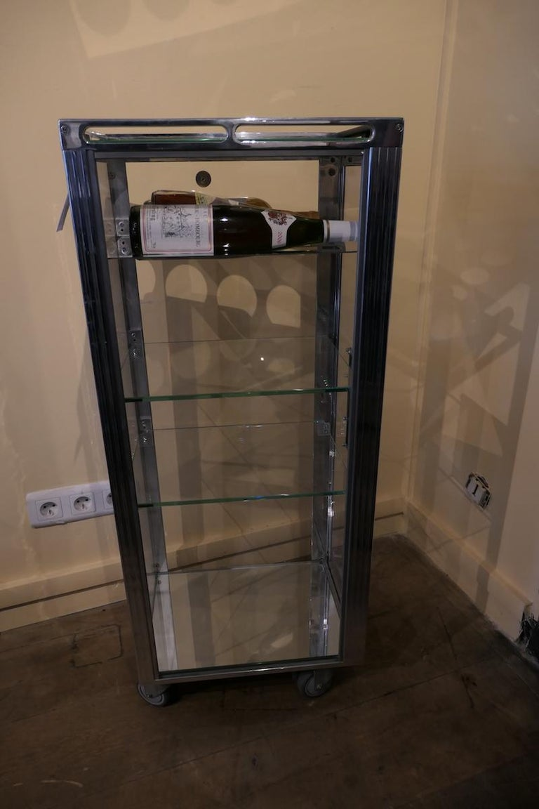 French Genuine Aircraft Vintage Bar Trolley Transparent For Sale