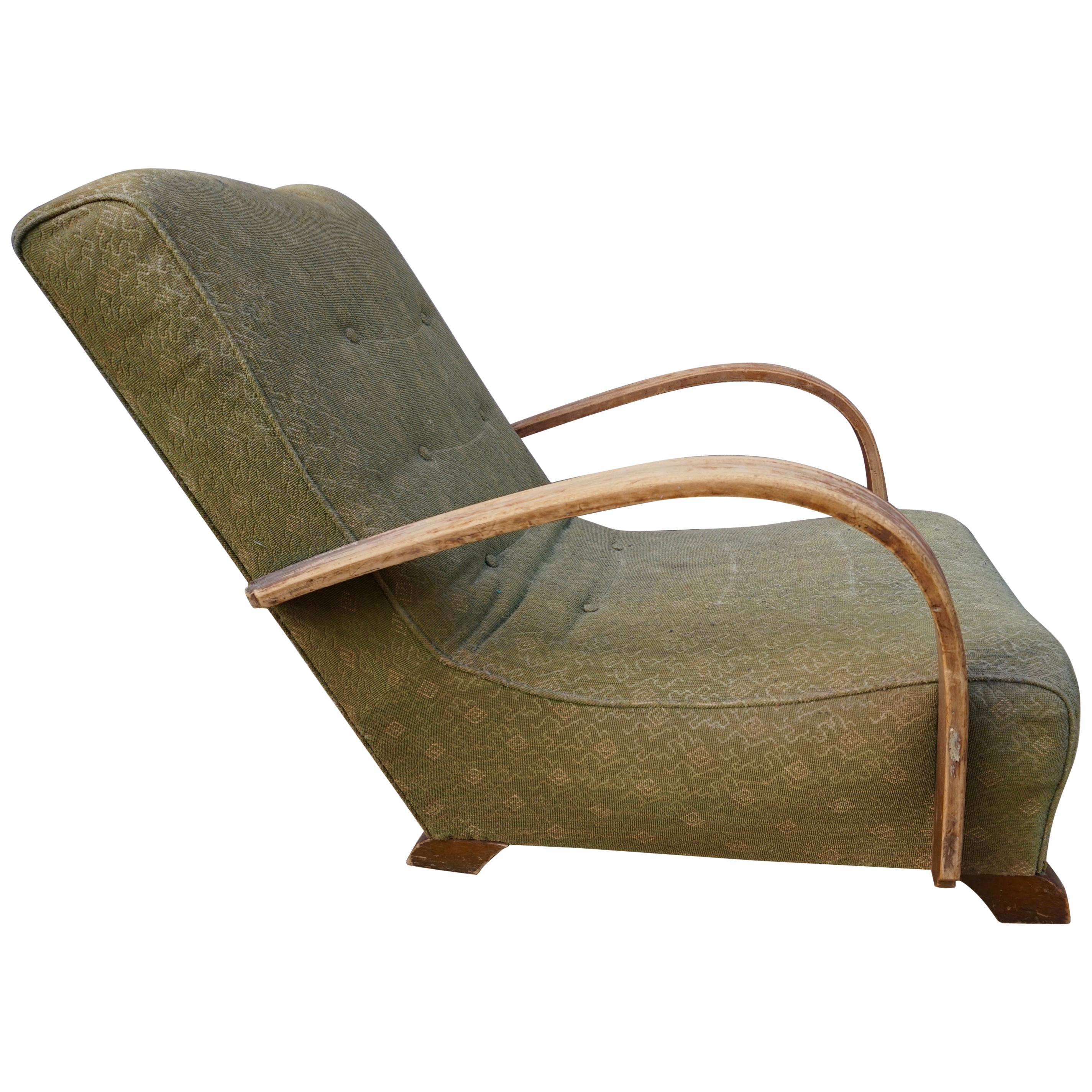 Genuine Art Deco Lounge Club Chair in Original Condition