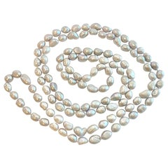 Genuine Cultured Grey Pearl Necklace High Luster, Freshwater Pearls