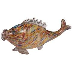Genuine Italian Vintage Murano Glass Fish Multi-Color