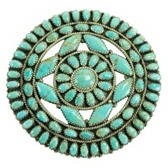 Genuine Navajo Larry Moses Begay Turquoise Pendant