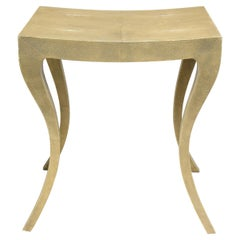 Genuine Shagreen Stool with Curved Legs
