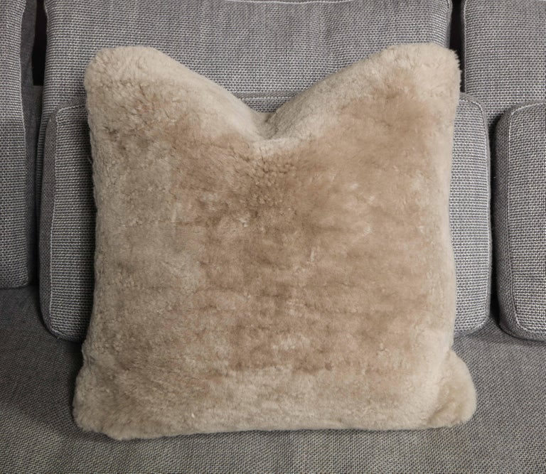 2 genuine shearling pillows in 18