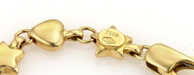 8d3710c52 Women's or Men's Genuine Vintage Tiffany & Co. 18 Karat 750 Yellow Gold  Hearts Stars