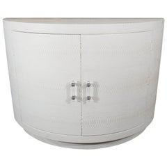 Genuine White Python Demilune Cabinet