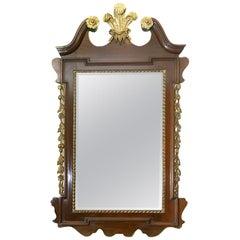 Geo 111 Style Mahogany and Giltwood Wall Mirror