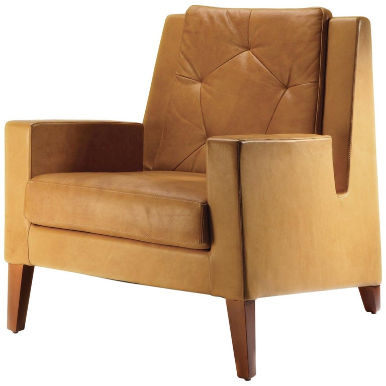 Flexsteel Wrangler Sofa: Geo Armchair In Leather For Sale At 1stdibs