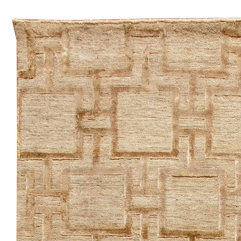 Hand-Knotted Geo Henley Rug For Sale