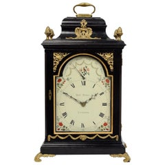 Geo III Ebonised & Brass-Mounted Musical 6 Tune Bracket Clock by Richard Parsons