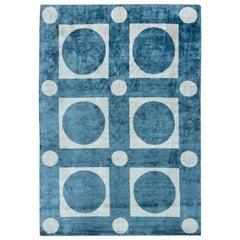 Geo Silk Blue Geometric Rug