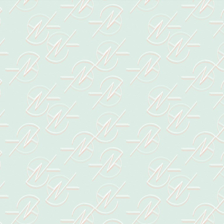Hand-Crafted Geo Wallpaper For Sale