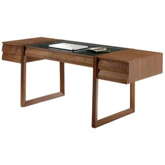 Geo, Walnut Writing Desk, Designed by Jamie Durie, Made in Italy