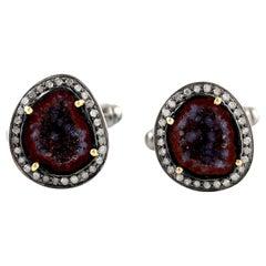 Geode Diamond Cufflinks