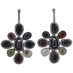 Geode Diamond Earrings