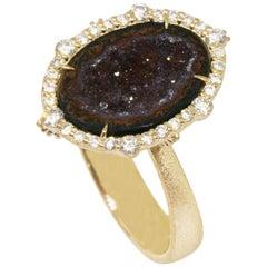 Geode Gold 18 Karat Ring
