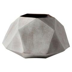 'Geode' Large White Geometric Ceramic Vessel