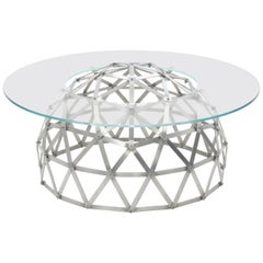 Geodesic Dome Table in Aluminum by Connor Holland