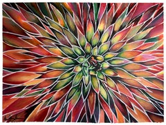 Agave Pelona, Painting, Acrylic on Watercolor Paper