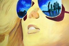 SUNSHINE GIRL#1 (LARGE), Painting, Acrylic on Paper