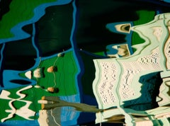 """""""Boathouse"""" Abstract Color Photography by Geoffrey Baris, Blue, Green"""