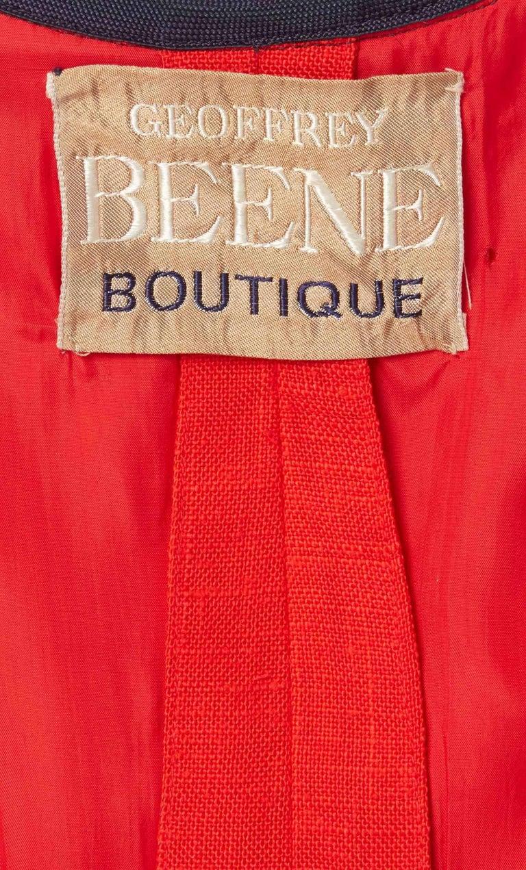 Geoffrey Beene, red linen dress, circa 1970 For Sale 1