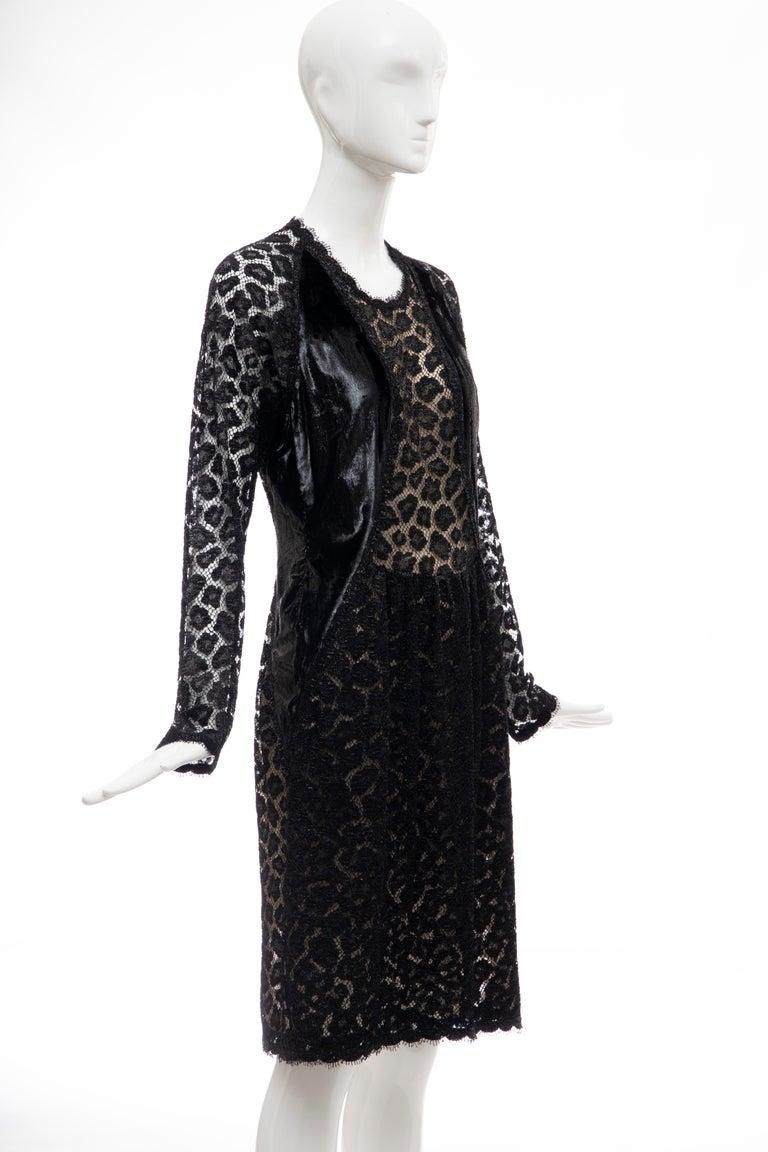 Women's Geoffrey Beene Black Metallic Leopard Lace Dress